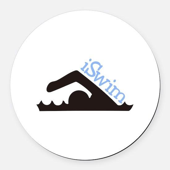 iSwim Round Car Magnet