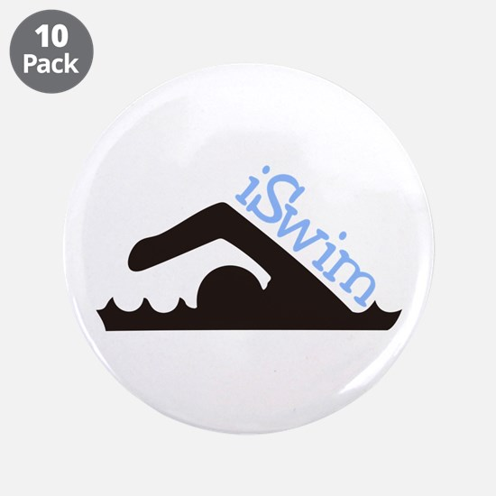 "iSwim 3.5"" Button (10 pack)"