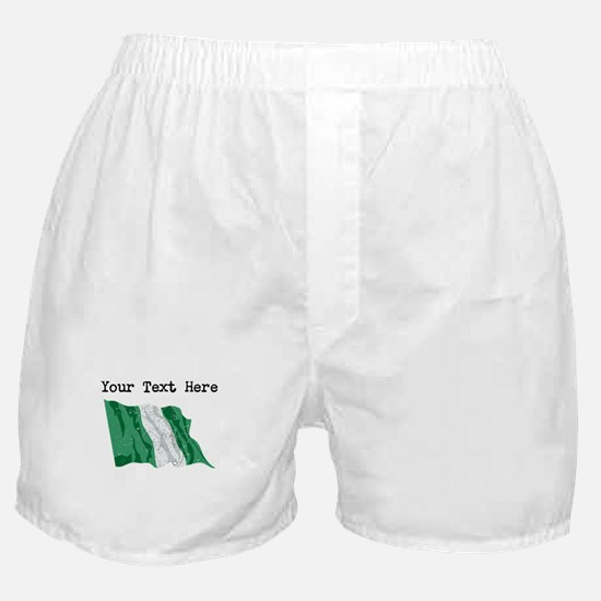 Nigeria Flag (Distressed) Boxer Shorts