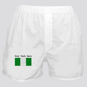 Nigeria Flag (Distressed) Boxer Shorts