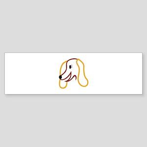 Dog Face Bumper Sticker