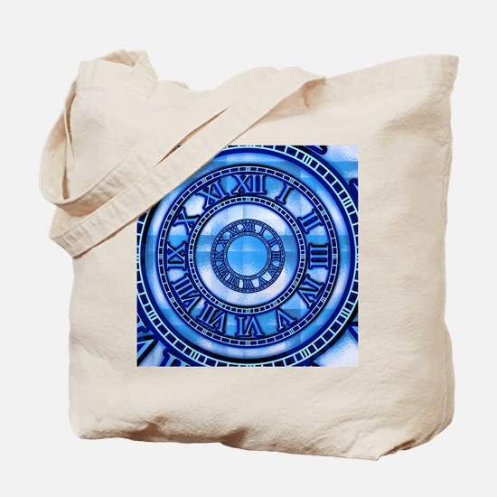 Neon Blue Roman Tote Bag