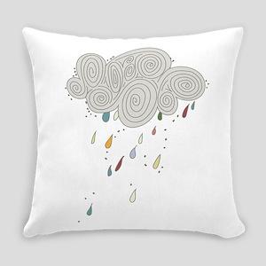 Rain Cloud Illustration Everyday Pillow