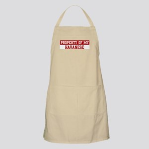Property of Havanese BBQ Apron