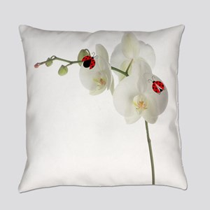 Lady Bugs Orchid Everyday Pillow