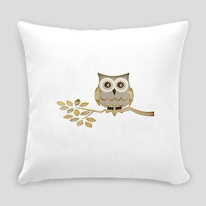 Apothecary Owl Branch 1 copy Everyday Pillow