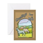Goat-AcrossMiles Greeting Card