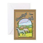 Goat-AcrossMiles Greeting Cards (Pk of 20)