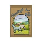 Goat-AcrossMiles Rectangle Magnet (100 pack)