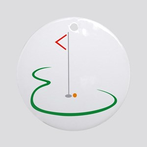 Golf Green Ornament (Round)