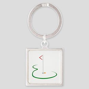 Golf Green Keychains