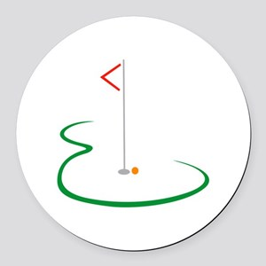 Golf Green Round Car Magnet