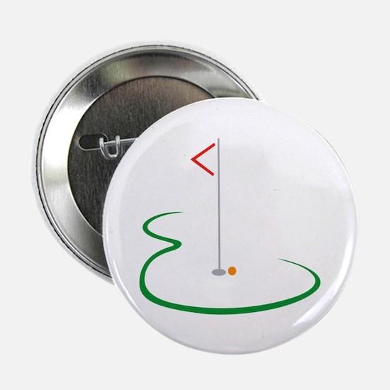 """Golf Green 2.25"""" Button (10 pack)"""