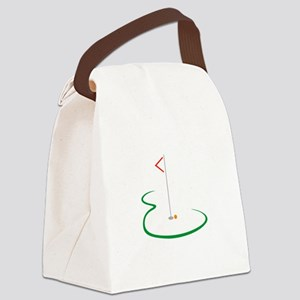 Golf Green Canvas Lunch Bag
