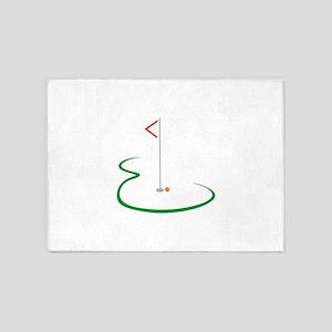 Golf Green 5'x7'Area Rug