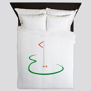 Golf Green Queen Duvet