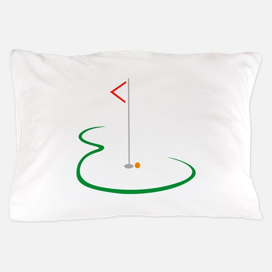 Golf Green Pillow Case