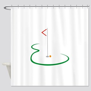 Golf Green Shower Curtain