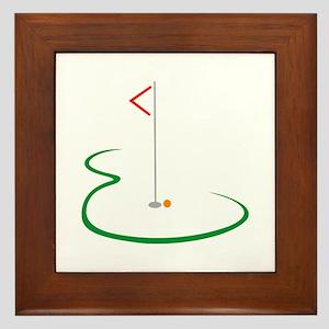 Golf Green Framed Tile