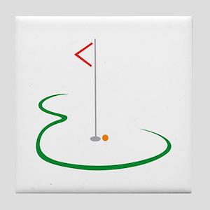 Golf Green Tile Coaster