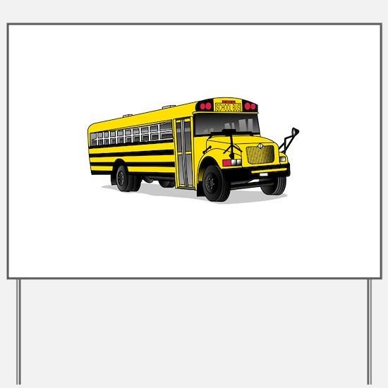 School Bus Yard Sign