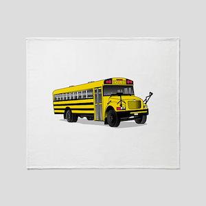 School Bus Throw Blanket
