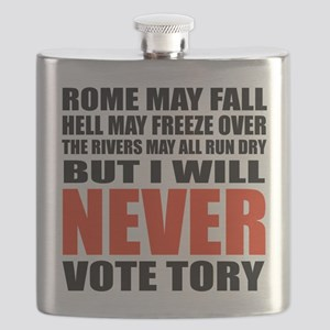 Never vote Tory (Adult) Flask