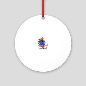 I Love to Read Ornament (Round)
