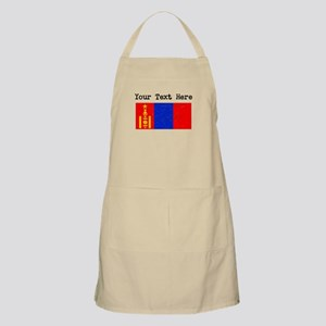 Mongolia Flag (Distressed) Apron