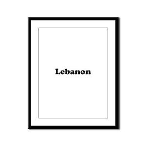 Lebanon Framed Panel Print