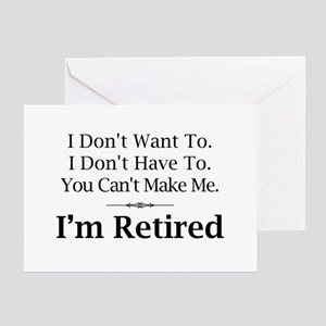 Funny retirement greeting cards cafepress retired greeting card m4hsunfo