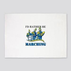Rather Be Marching 5'x7'Area Rug