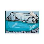 Goat-Glacier Rectangle Magnet (100 pack)