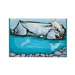 Goat-Glacier Rectangle Magnet (10 pack)