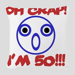Funny 50th Birthday Woven Throw Pillow