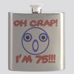 Funny 75th Birthday Flask