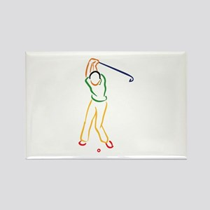 Golfer Outline Magnets