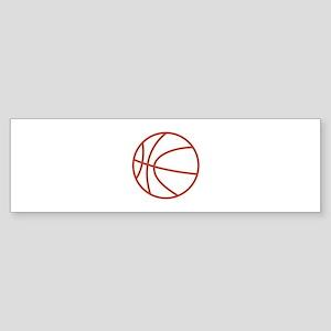 Basketball Outline Bumper Sticker