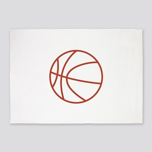 Basketball Outline 5'x7'Area Rug