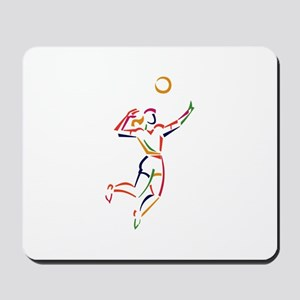 Female Volleyball Player Mousepad