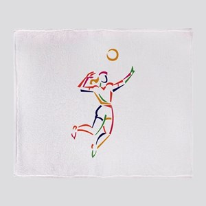 Female Volleyball Player Throw Blanket