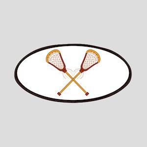 Crossed Lacrosse Sticks Patch