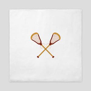 Crossed Lacrosse Sticks Queen Duvet