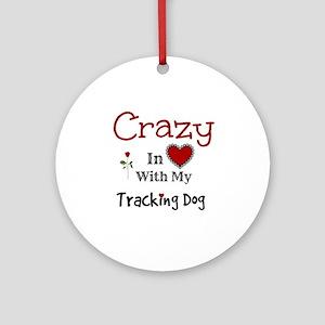Tracking Dog Ornament (Round)