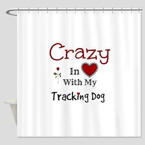 Tracking Dog Shower Curtain