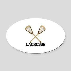 Lacrosse Oval Car Magnet