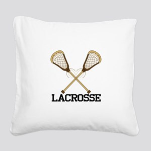 Lacrosse Square Canvas Pillow
