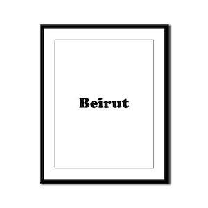 Beirut Framed Panel Print