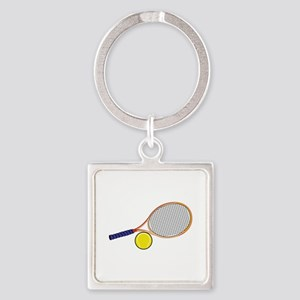 Tennis Racquet and Ball Keychains