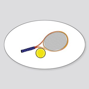 Tennis Racquet and Ball Sticker